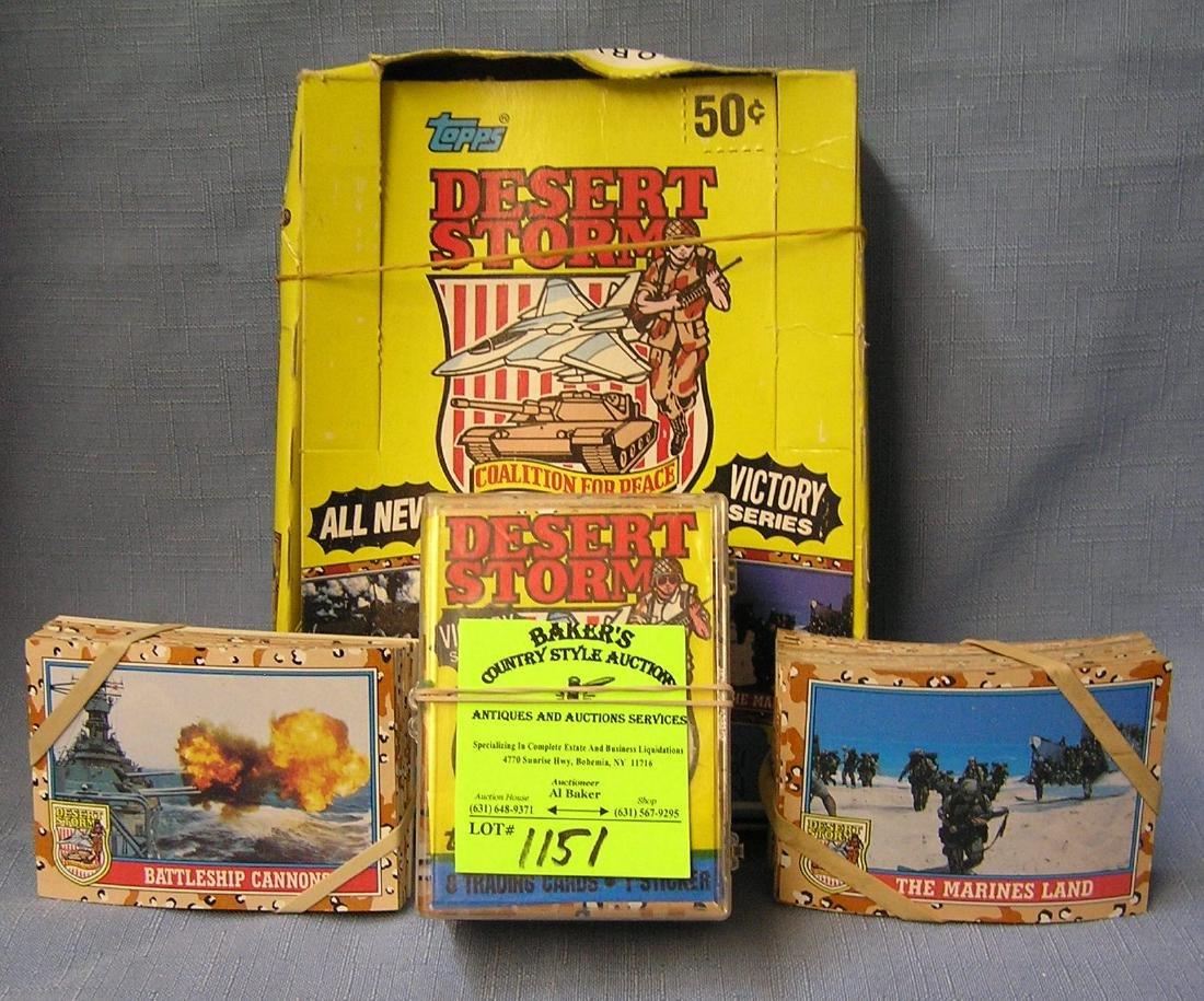 Box full of vintage Desert Storm cards
