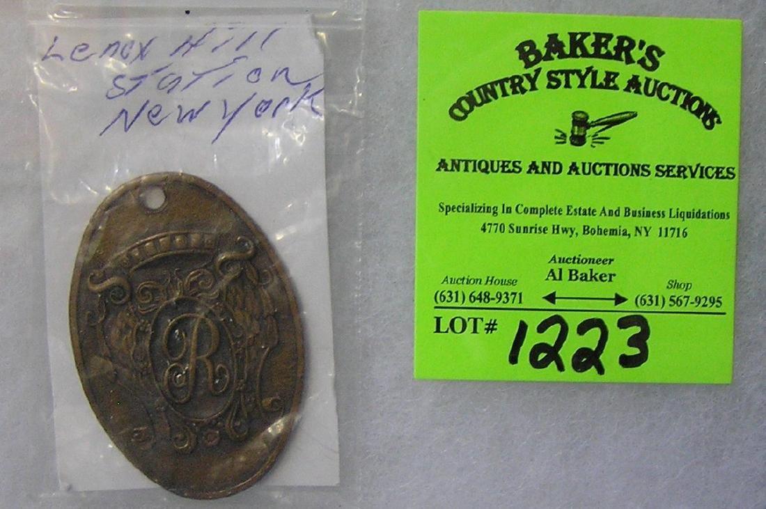Antique Lennox Hill Station NY RR badge