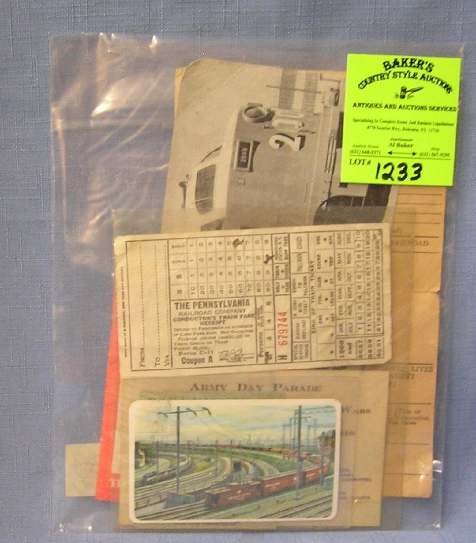 Group of vintage rail road collectibles