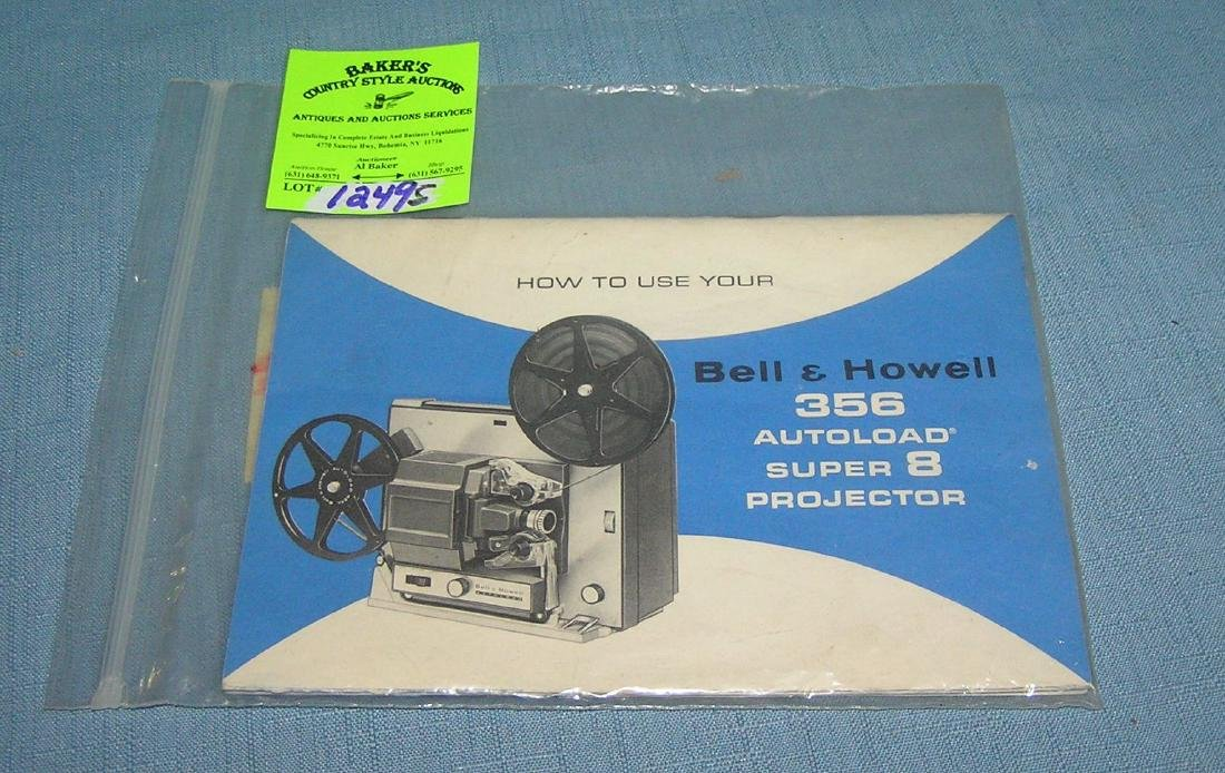 Bell & Howell projector booklets & emphemera