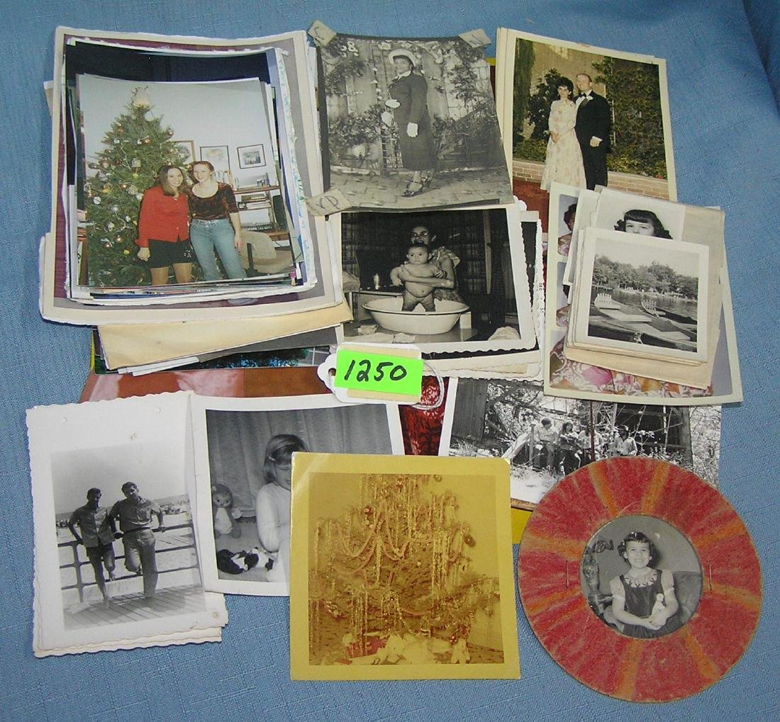 Group of vintage and modern photographs