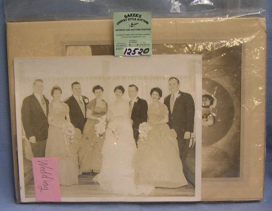 Group of vintage wedding photos