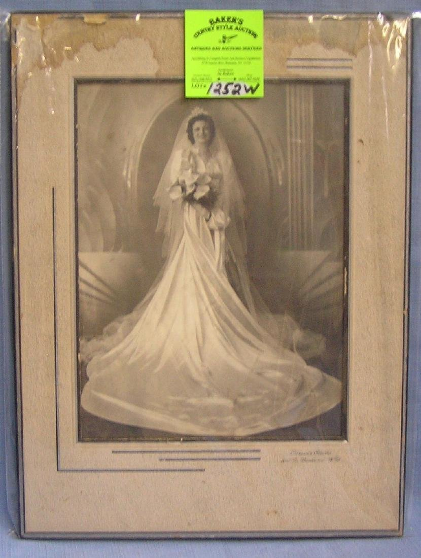 Vintage wedding photo: Litman's studio, NY City