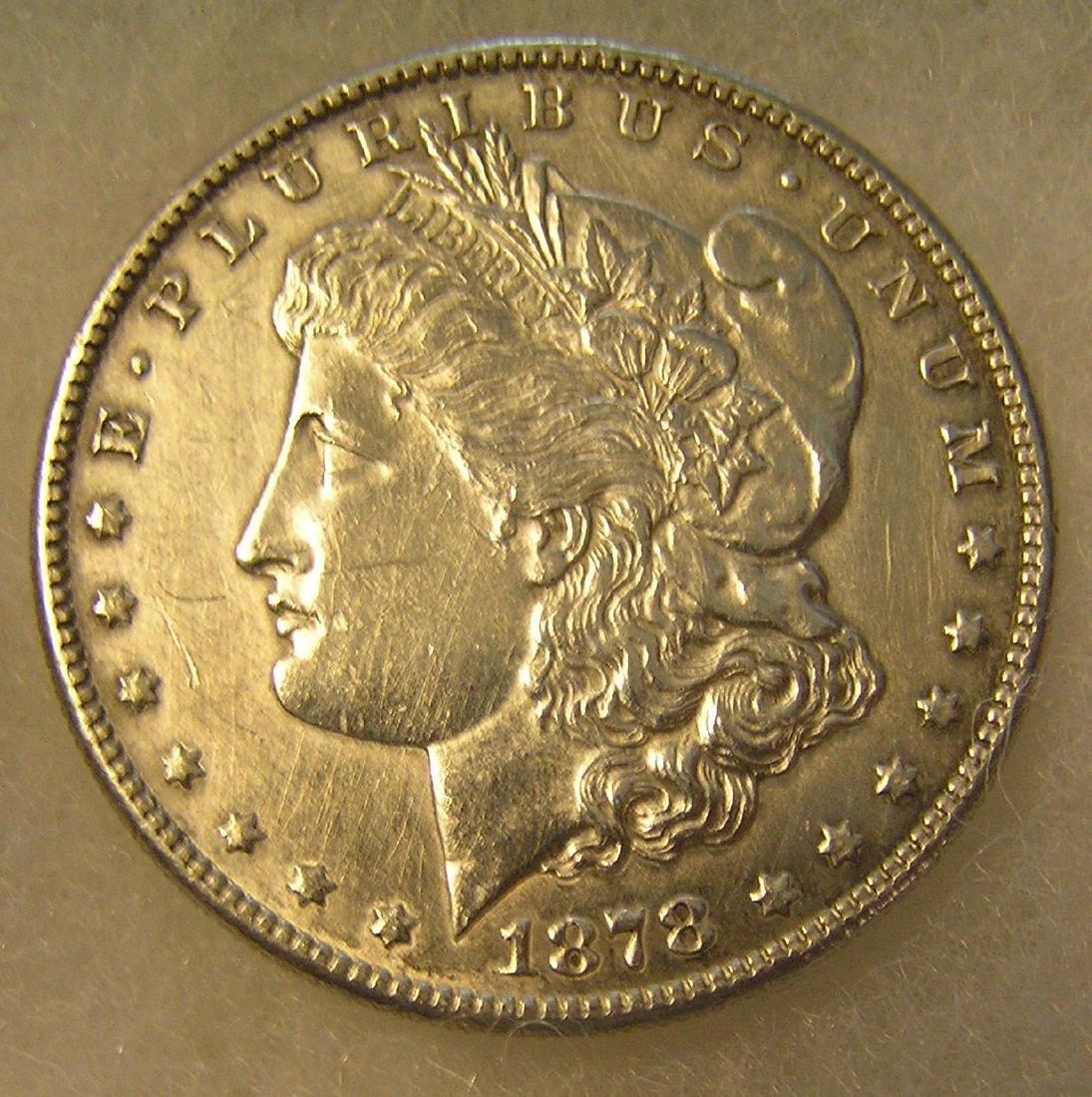 1878S Morgan silver dollar in very fine condition