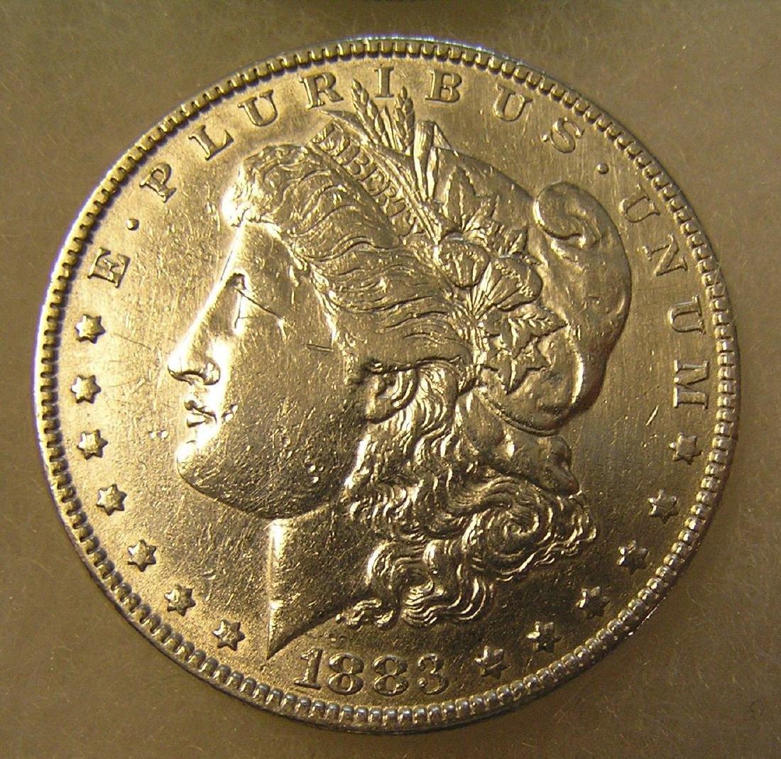 1883 Morgan silver dollar in very fine condition