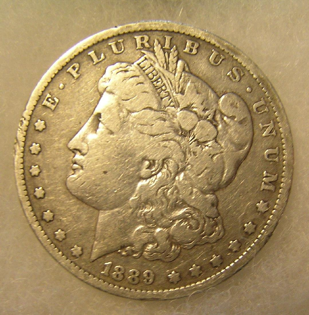 1889O Morgan silver dollar in very good condition
