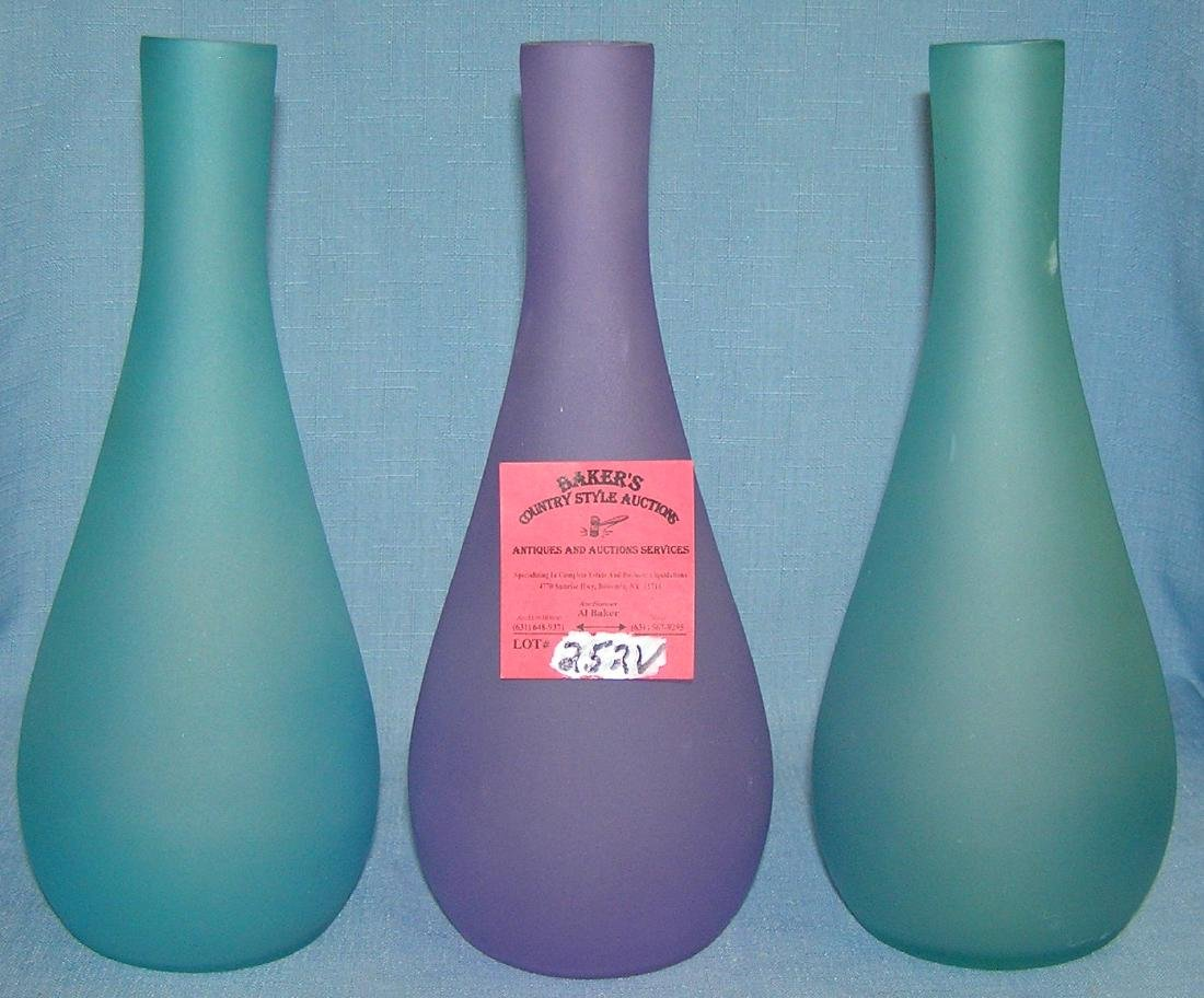 Group of modern art glass vases