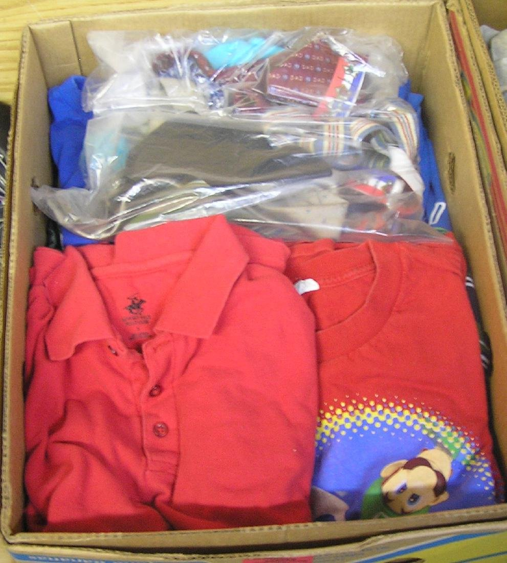Large box of modern clothing