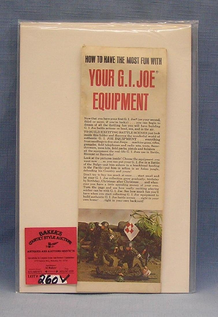GI Joe accessories and equipment brochure