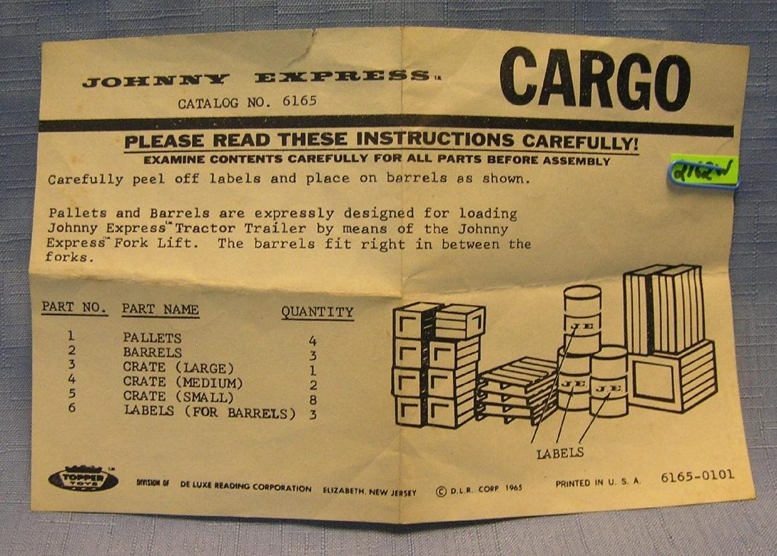 Vintage Johnny Express cargo brochure