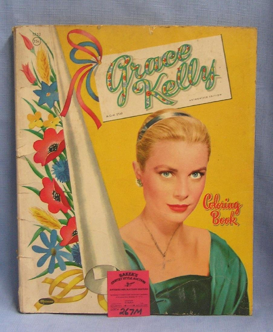 Early Grace Kelly pictural coloring book