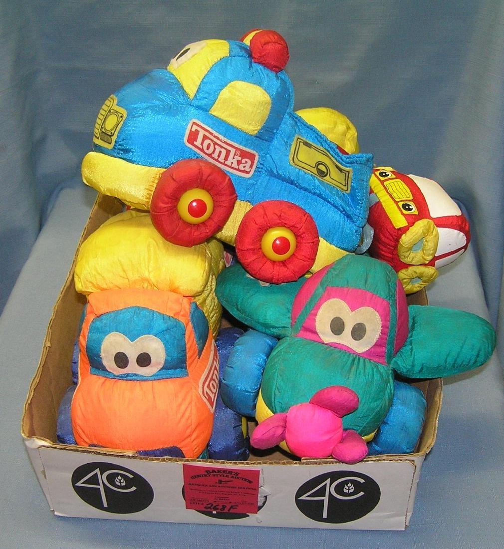 Box full of vintage Tonka plush toys