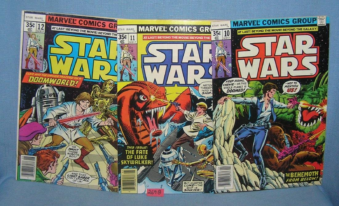 Star Wars comic books issues 10, 11 and 12