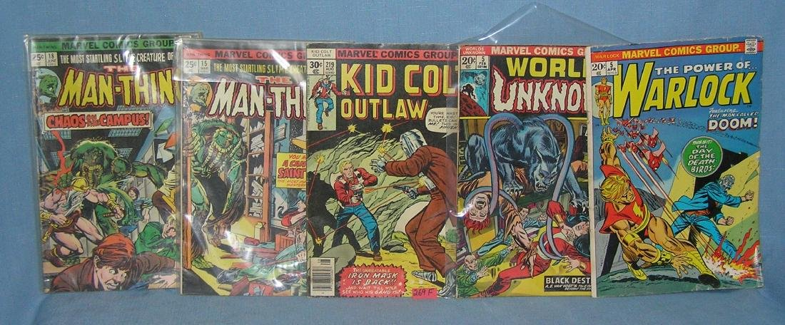 Group of 5 early Marvel comic books