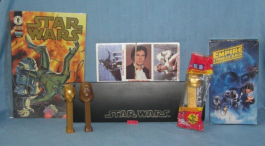 Group of Star Wars collectibles