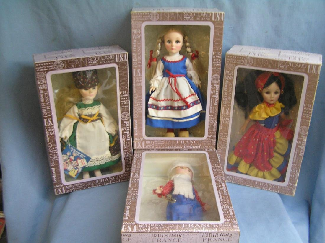 Group of 4 World dolls by Effanbee
