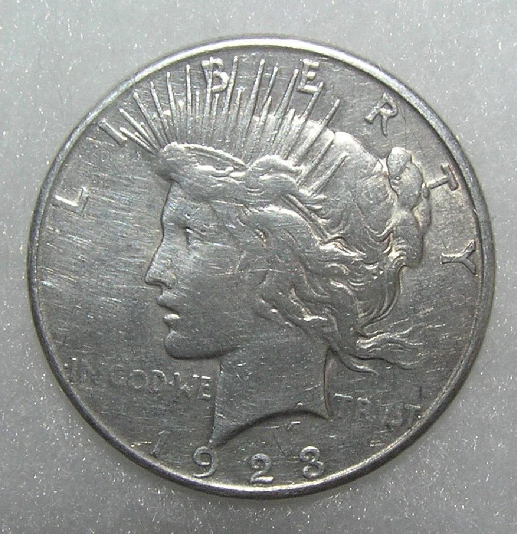 1923S Lady Liberty Peace silver dollar