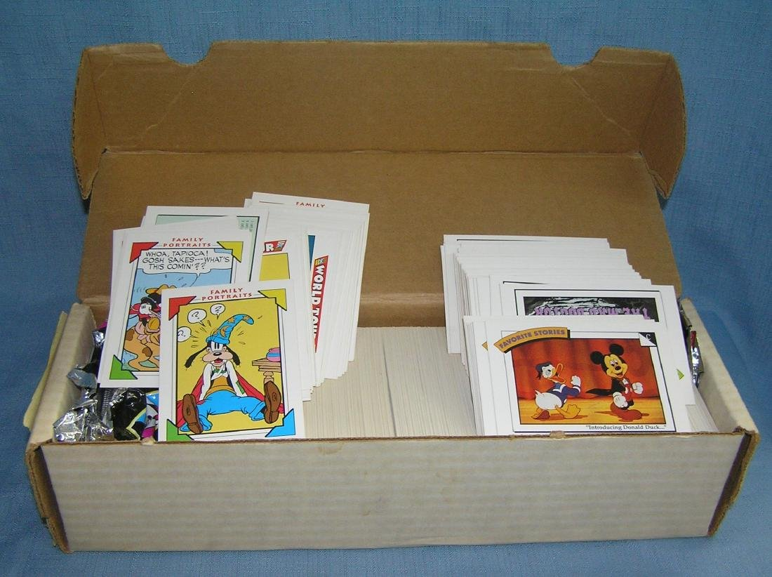 Box full of Disney collectible cards