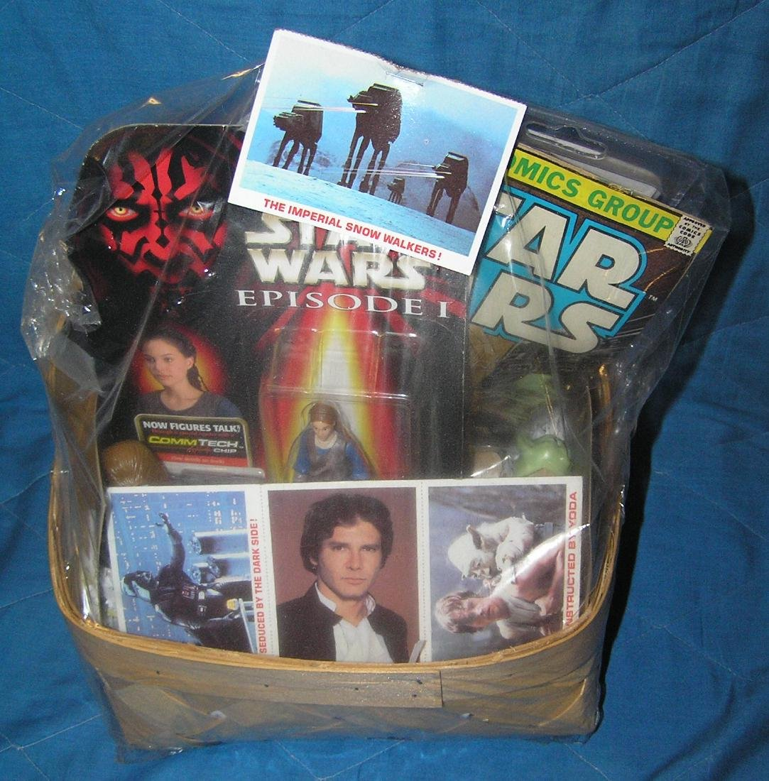 Star Wars collectibles gift basket