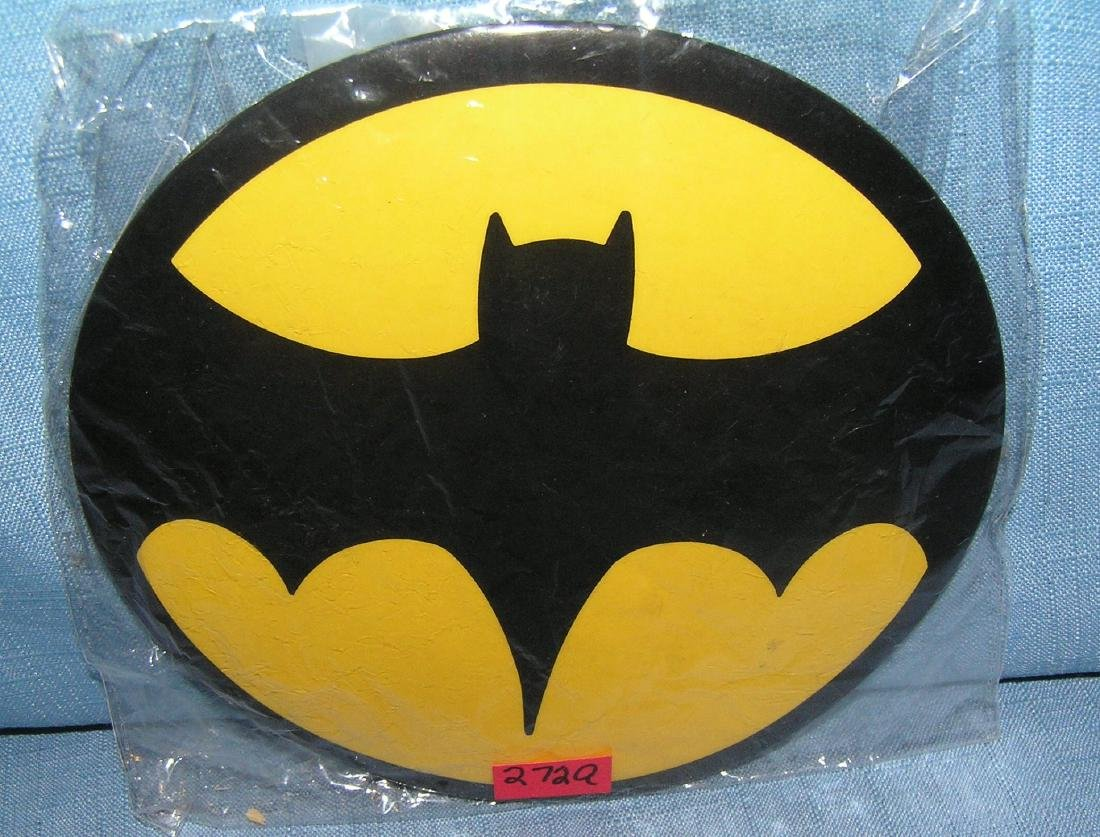 Vintage oversized Batman pin back button circa 1960's