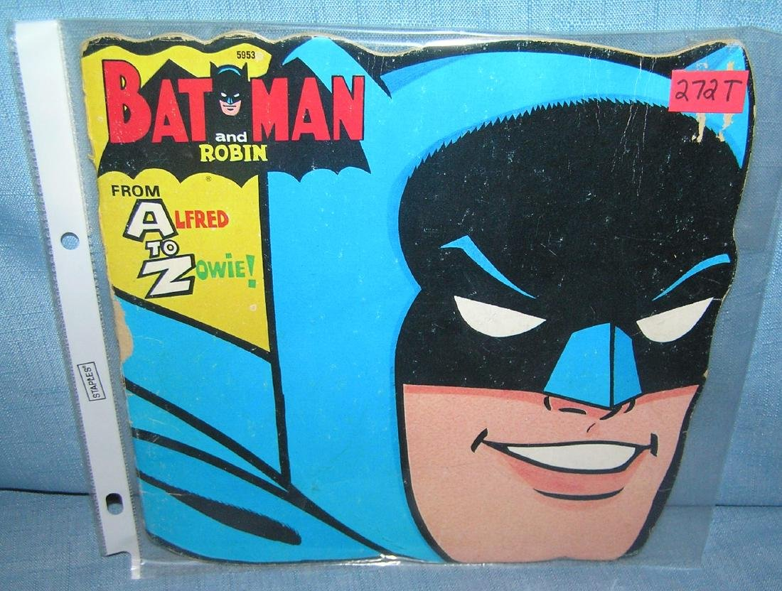 Vintage Batman and Robin pictural comic book