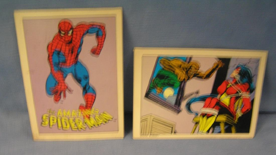 Pair of Superhero colored post cards
