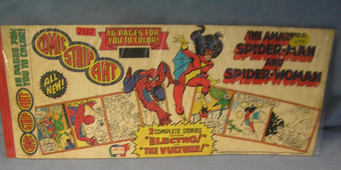 The amazing Spiderman and Spider woman over sized comic