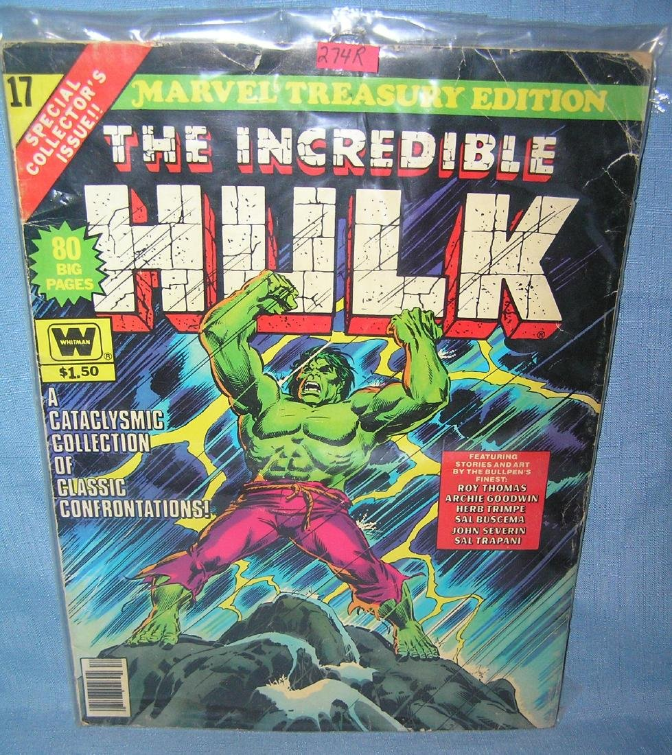 The Inccredible Hulk oversized comic book
