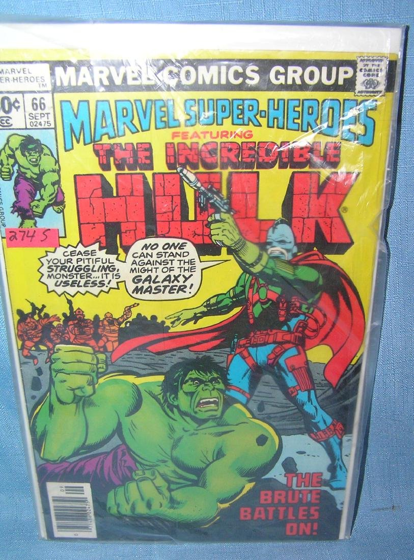 Marvel Superheros featuring the Incredible Hulk comic