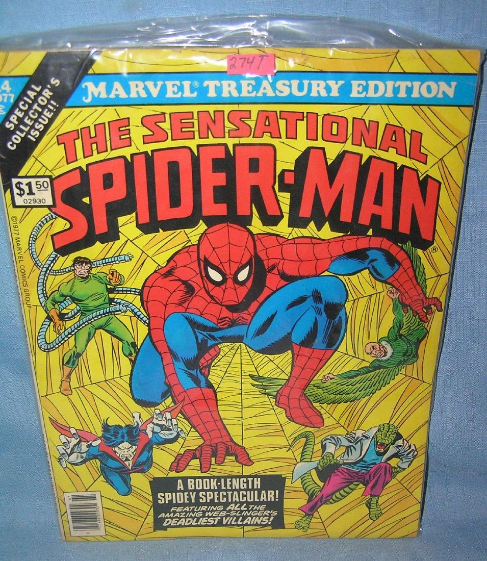 Marvel Spiderman oversized comic book 1977