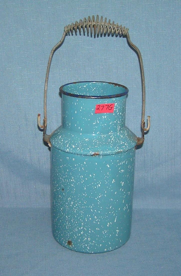 Antique granite ware cream pail