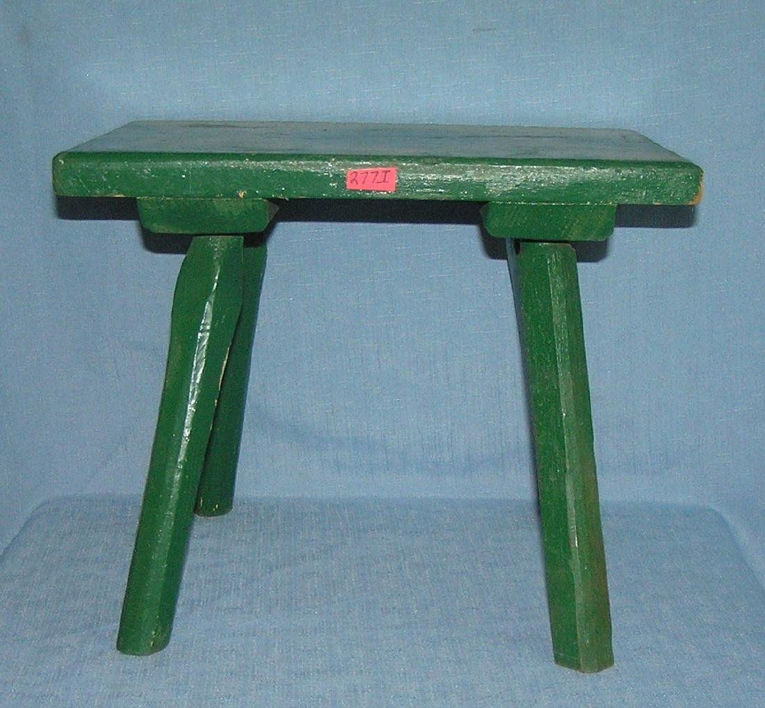 Antique painted bench circa early 1900's