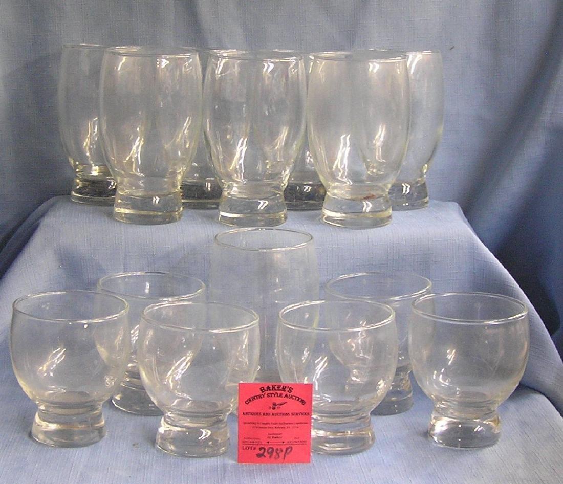 Box full of vintage estate drinking glasses