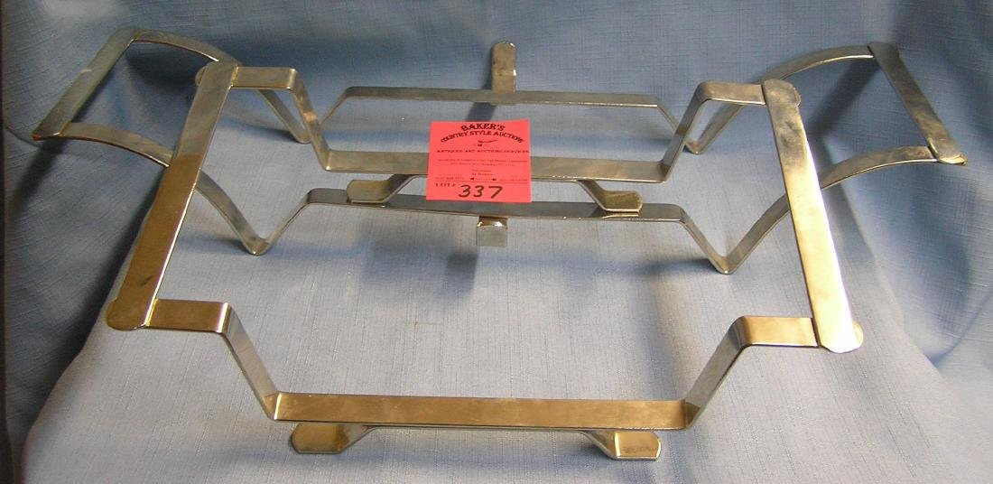 Pair of professional quality serving tray holders