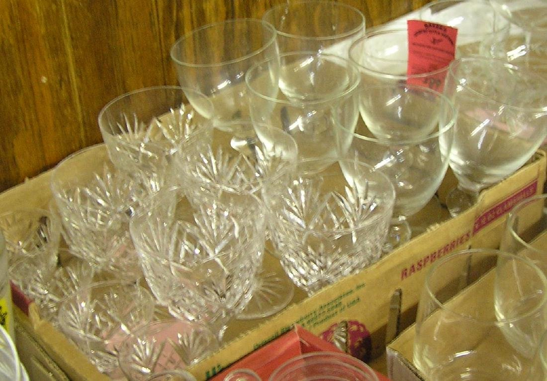 Vintage glass and crystal stemware and glasses