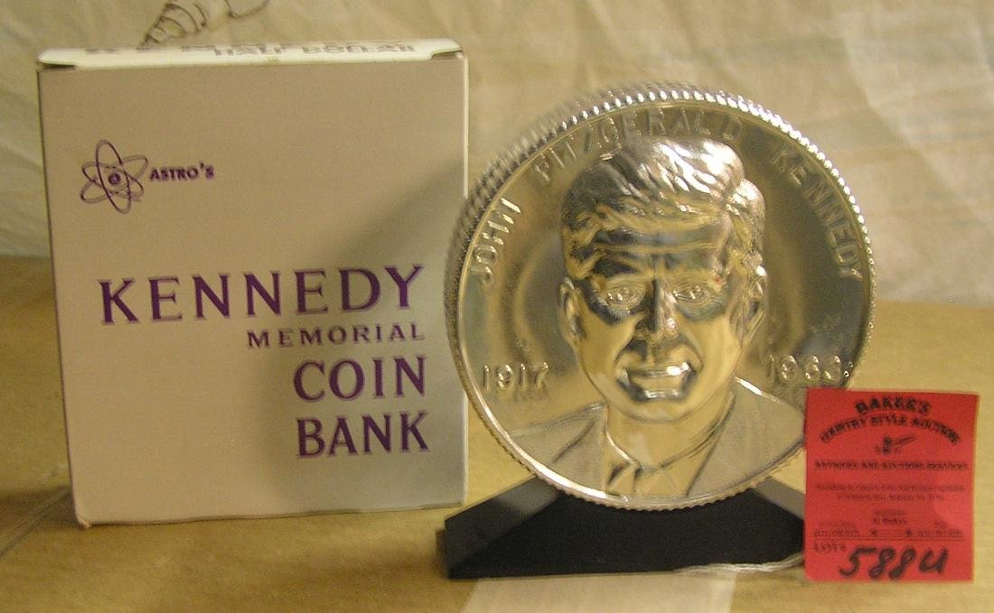John F Kennedy half dollar coin bank