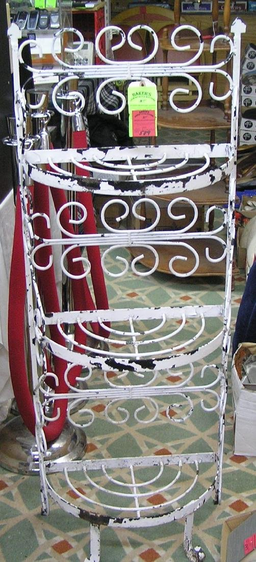 Antique wrought iron baker's rack
