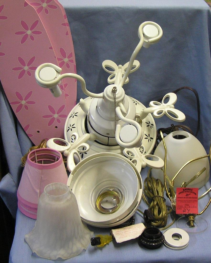 Group of lamp parts and accessories
