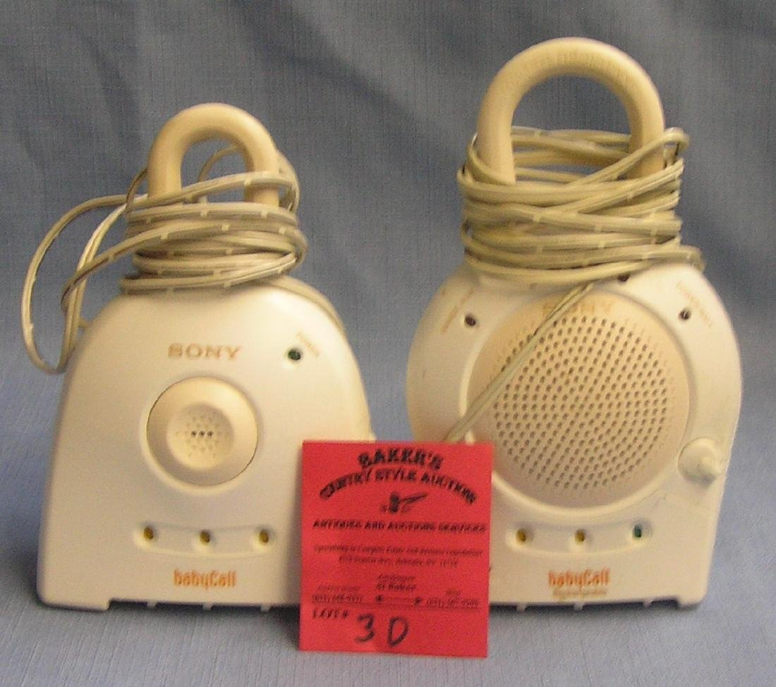 Pair of electronic baby or intruder monitors