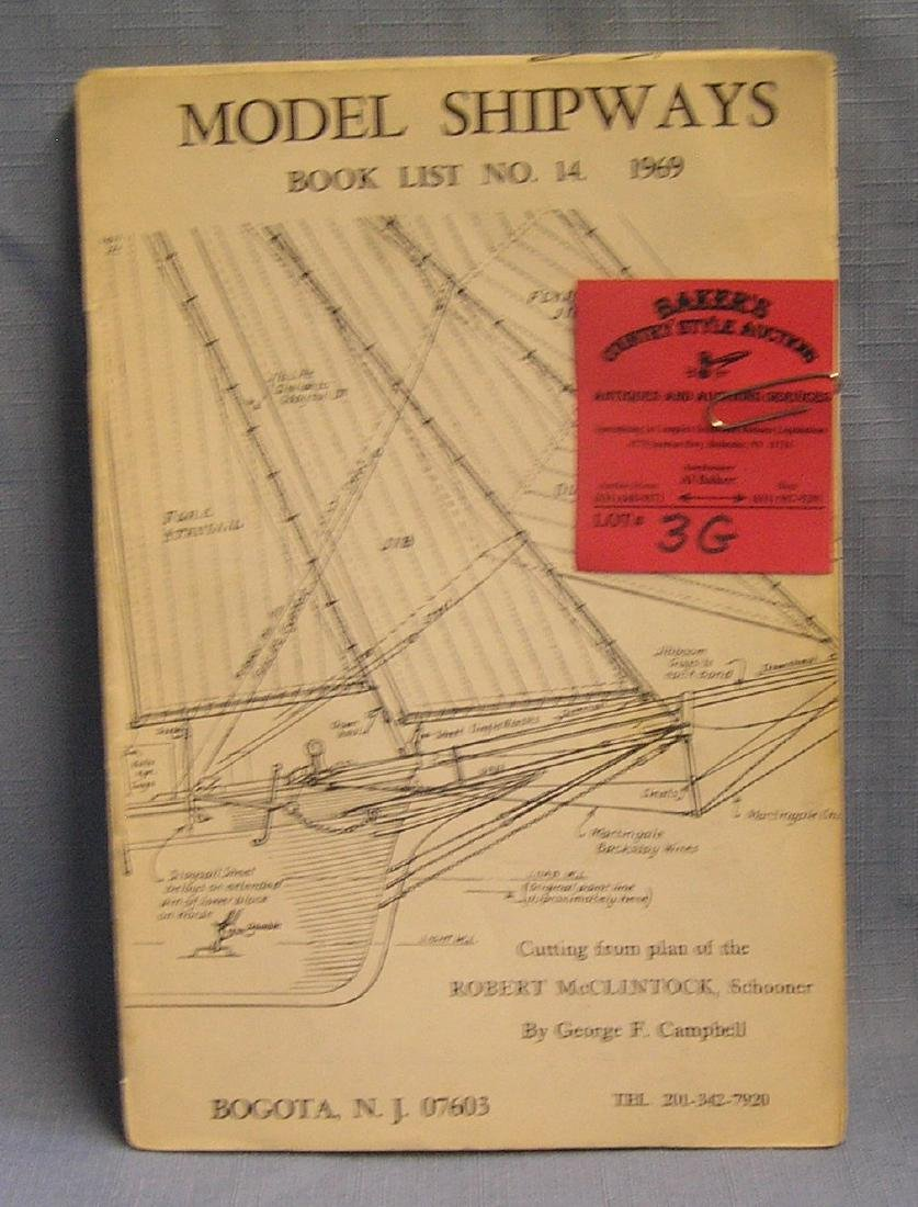 ship model building plans and brochures