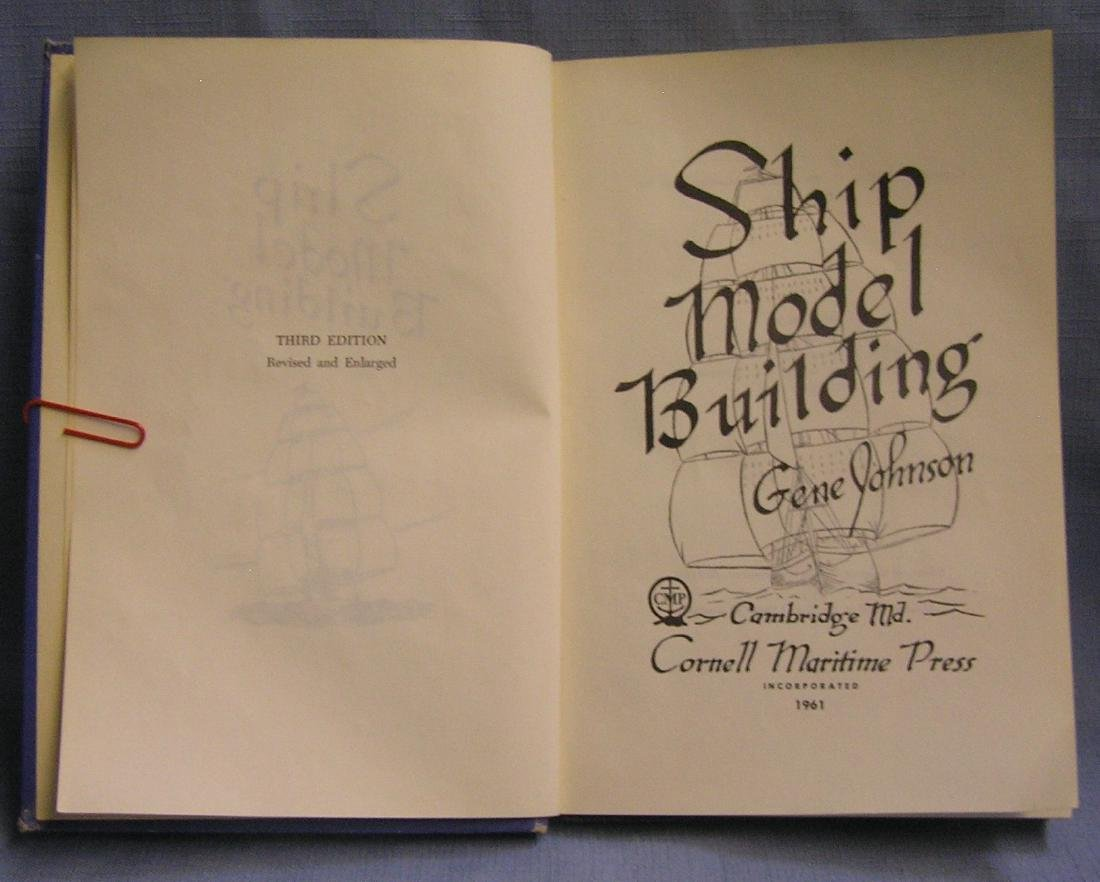 Vintage ship model building book