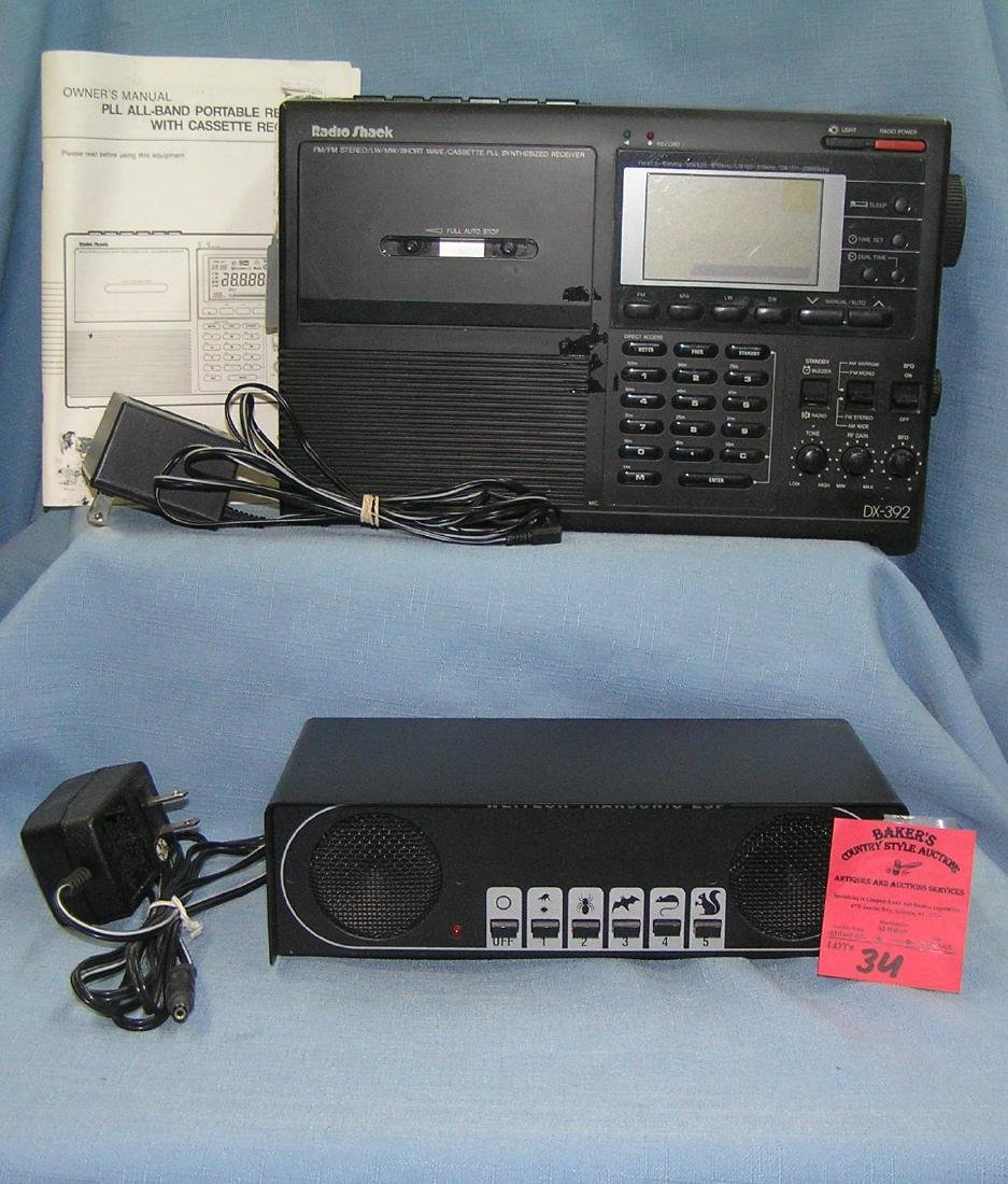 Electronic pest repeller and radio