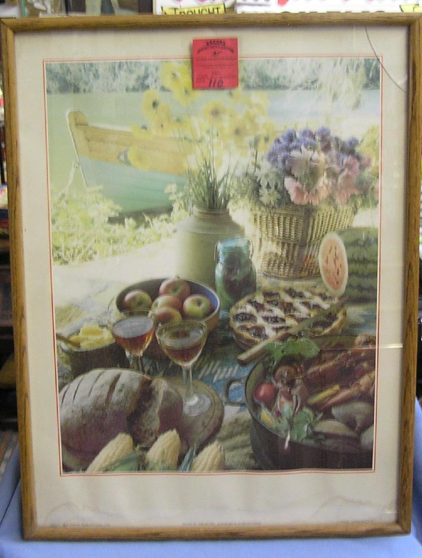Festive decorative print
