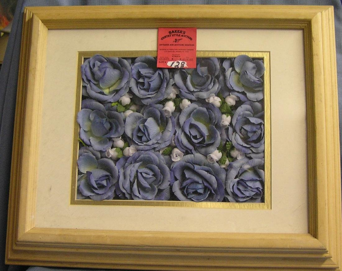 Floral decorated framed collage