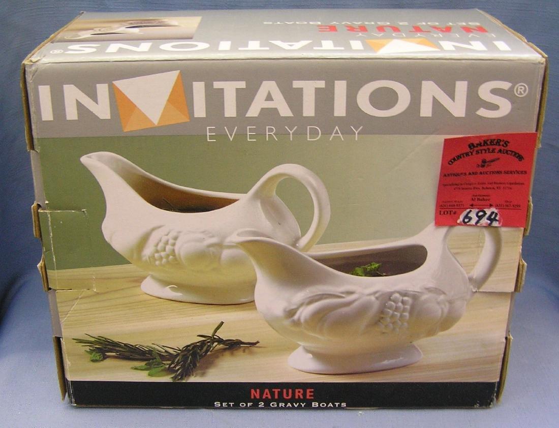 Pair of Innovations gravy boats