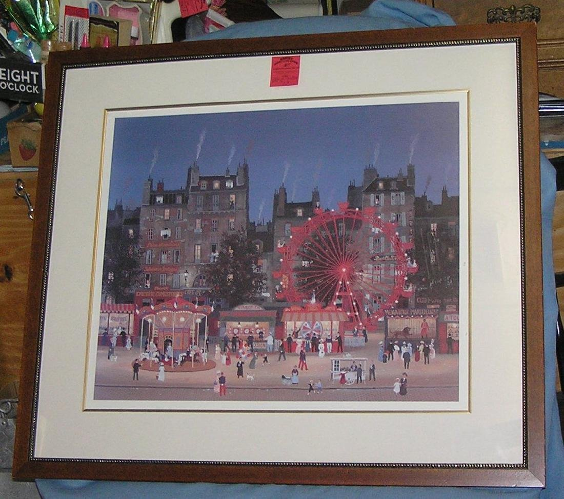 Great carnival themed matted and framed print