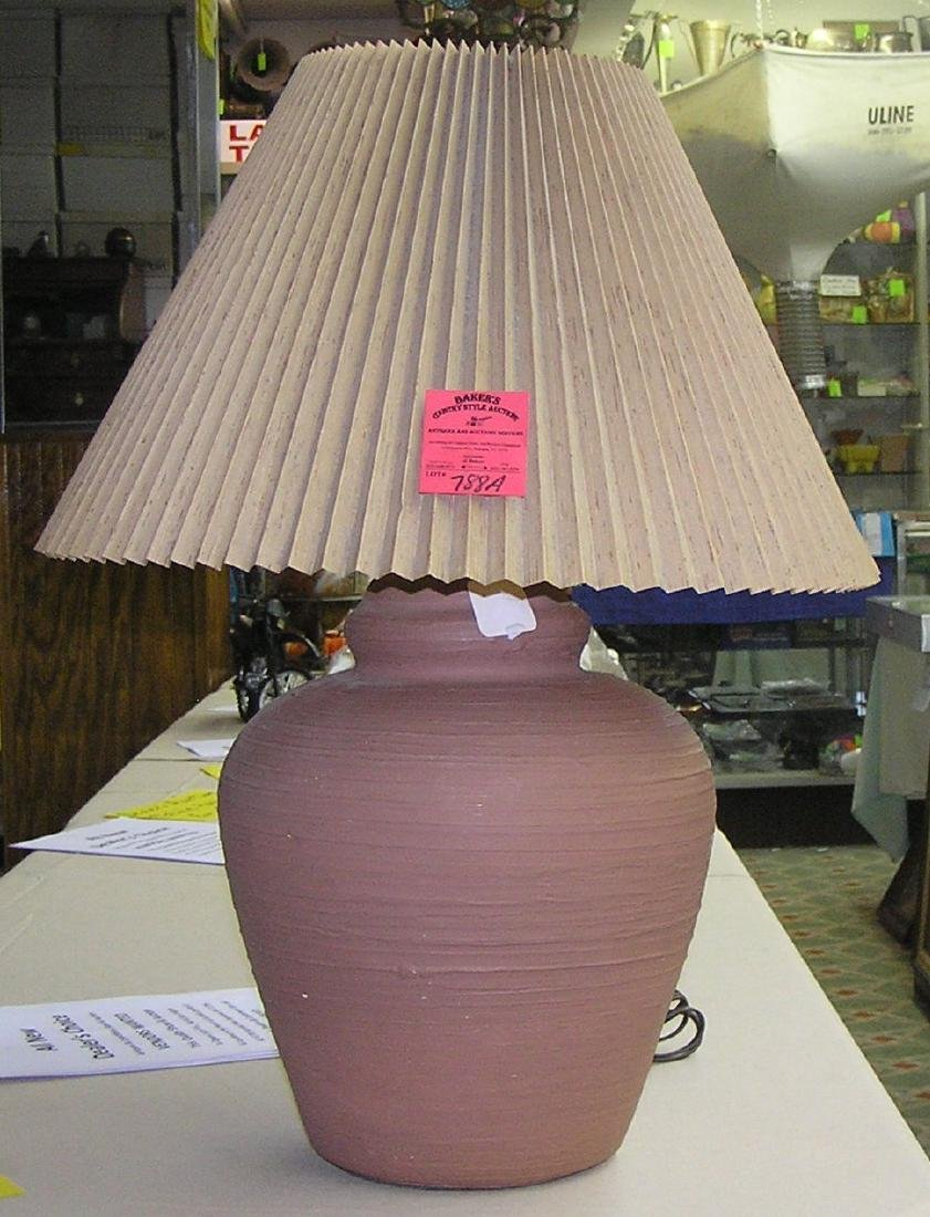 Vintage earthenware table lamp