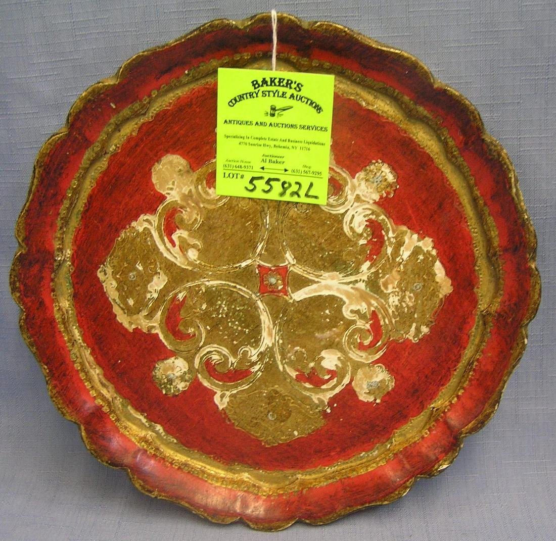 Early wood decorative plate