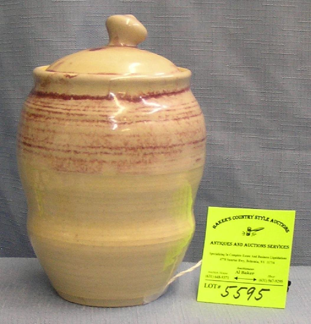 Artist signed Verschure covered jar