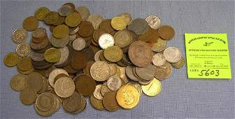 Large collection of vintage world coins